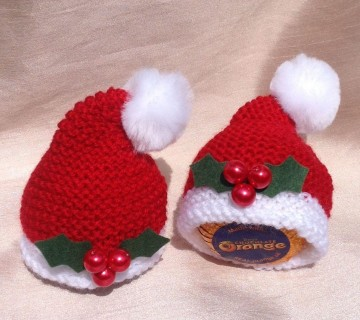 Knitted Easter Chick & Rabbit Crème Egg Covers