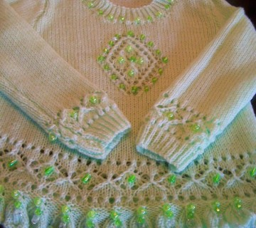 Green Beaded Jumper