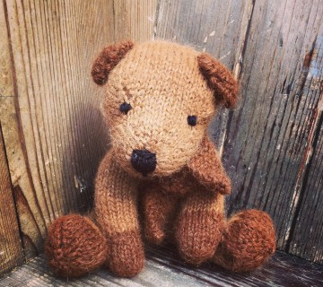 Alpaca Wool Knitted Bear