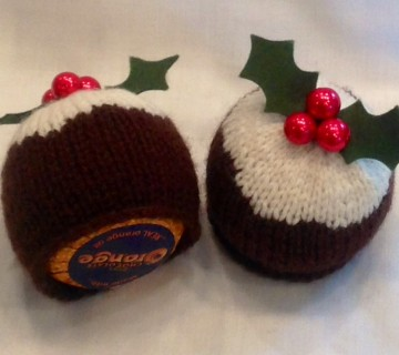 Chocolate Orange Christmas Pudding Cover