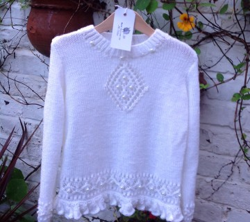 Jumper With Diamond Design & Bead Embellishment