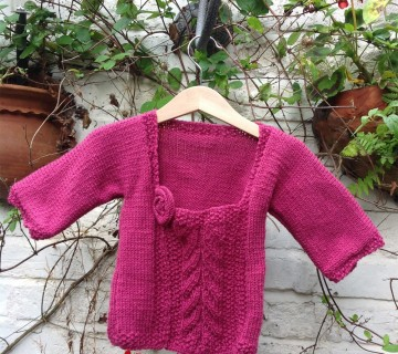 Knitted Flower Tunic