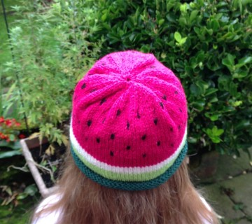 Knitted Watermelon Hat