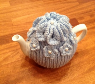 Pale Blue Tea Cosy