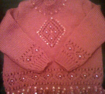 Pink Beaded Jumper