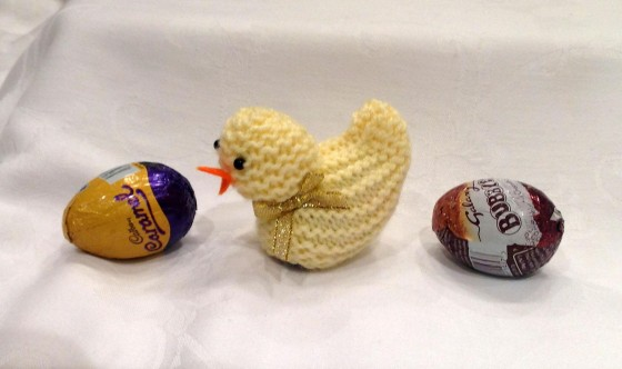 Knitted Easter Chick Egg Covers